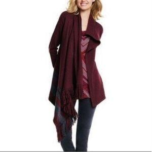 CAbi Port Fringe Wrap Sweater